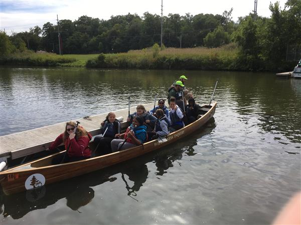 Barker 8th Graders Canoe Trail Creek