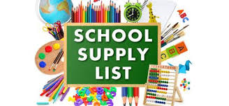 Barker 2019-2020 Supply Lists