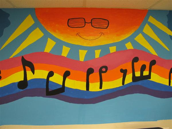 Advanced Art students create mural for music room