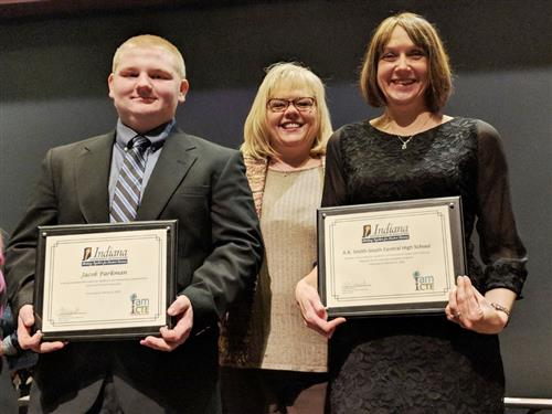 LaPorte County Career & Tech Ed Student, Counselor Honored