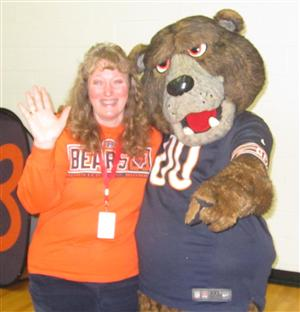 Mrs. Tappan with Staley Da Bear!