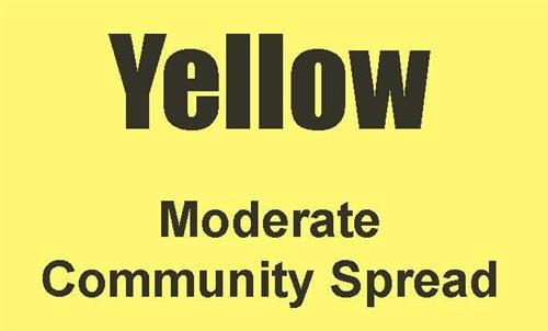 YELLOW - Moderate Community Spread