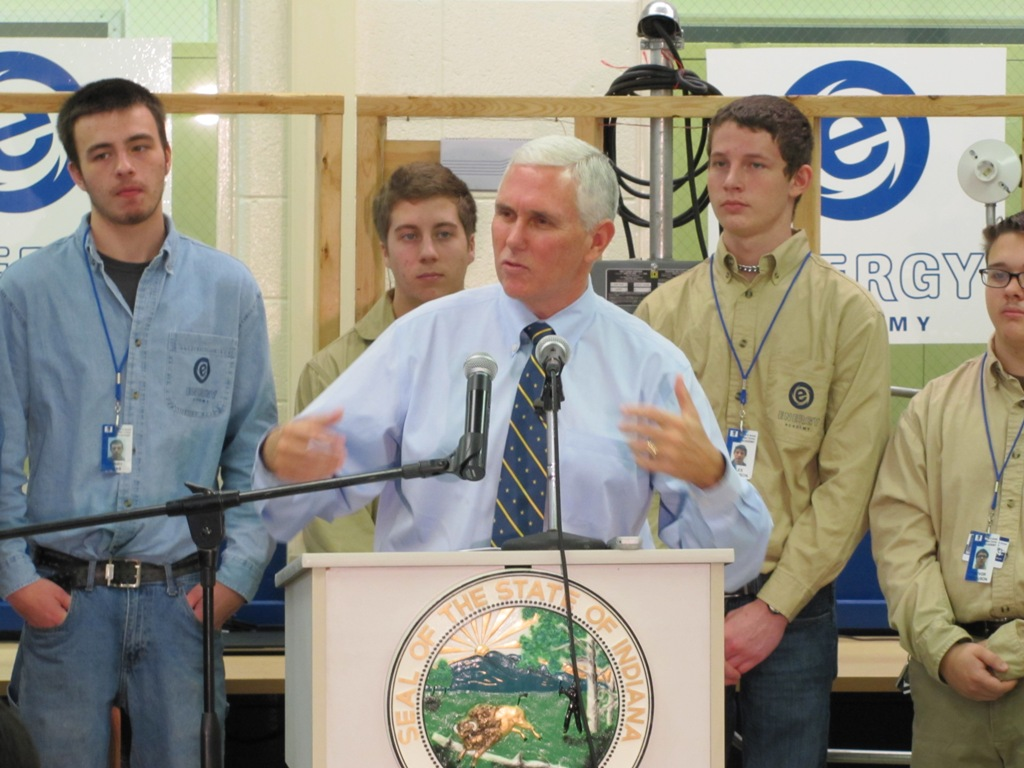Governor Pence Visits A. K. Smith to Celebrate Energy Academy Opening