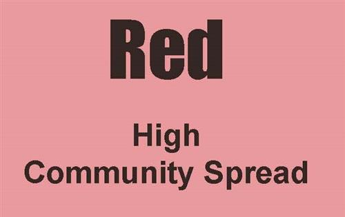 Red - High Community Spread