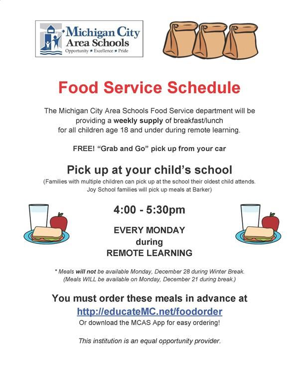 Food Service Schedule