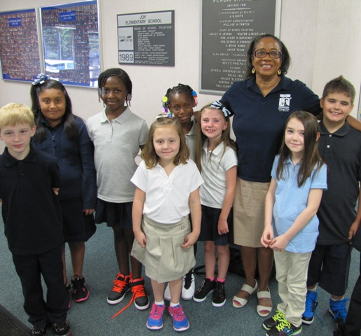 Joy students with Dr. Eason-Watkins